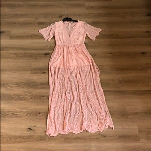 Dusty Rose Romper Dress NWT Size small